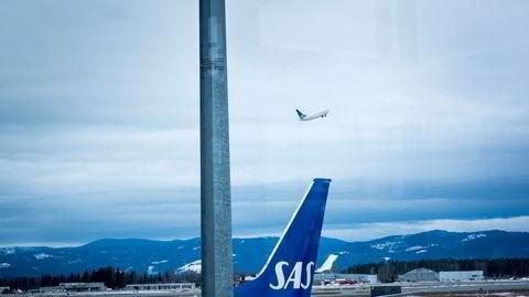 SAS-fly på Gardermoen.