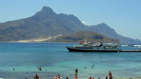 Reiselivsaktørene merket umiddelbar pågang etter torsdagens oppmykning av reiserestriksjonene. Bildet er fra øya Gramvousa utenfor Kreta i Hellas.