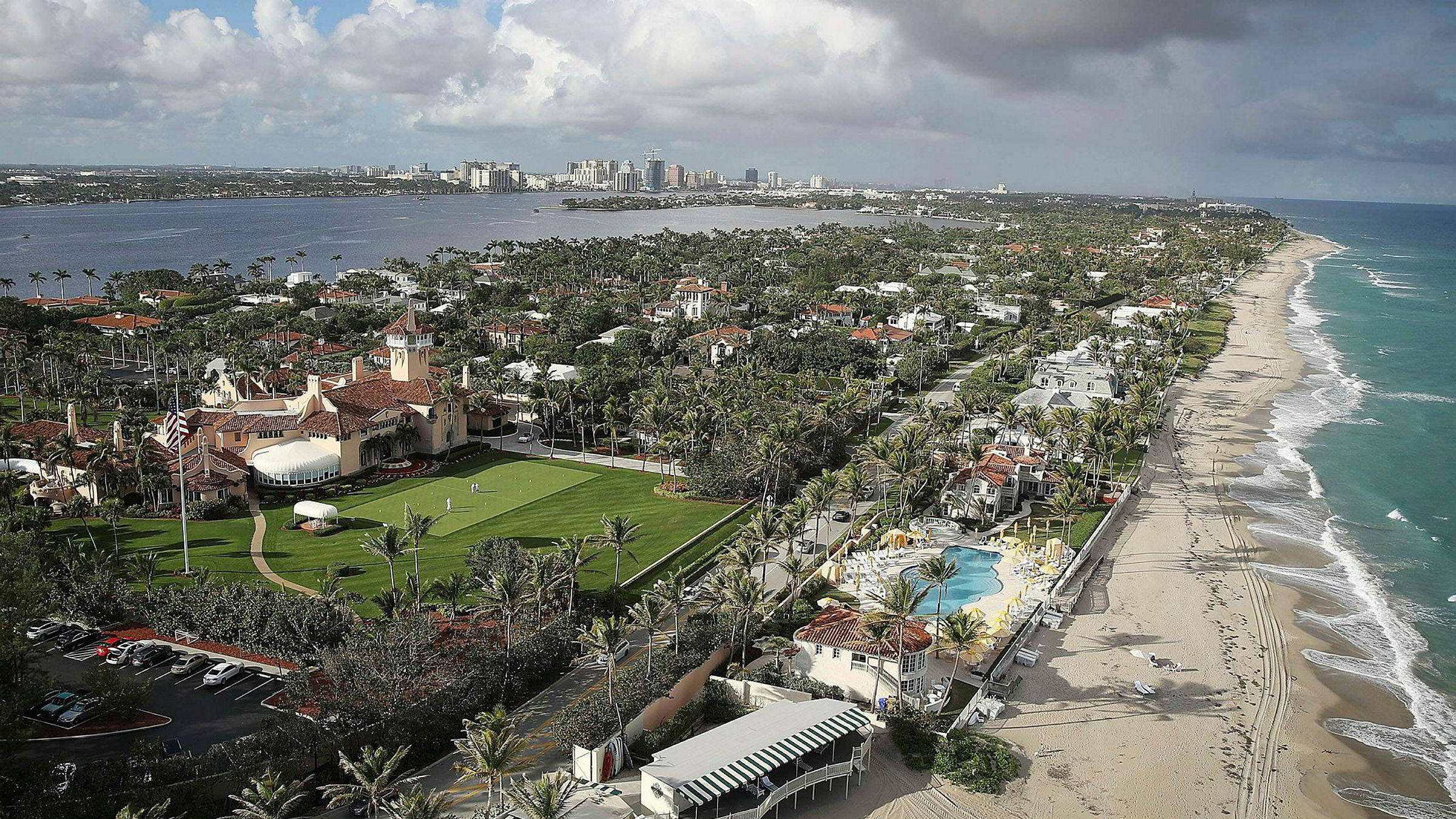 Bildet viser president Donald Trumps resort Mar-a-Lago i Florida i USA.
