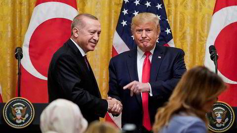 Tyrkias president Recep Tayyip Erdogan møtte Donald Trump i Det hvite hus onsdag.