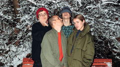 Gjeng. Pom Poko smelter sammen som et skikkelig band, og er straks aktuelle med debutalbumet «Birthday». Fra venstre: Ola Djupvik, Martin Miguel Almagro Tonne, Jonas Krøvel og Ragnhild Fangel Jamtveit.