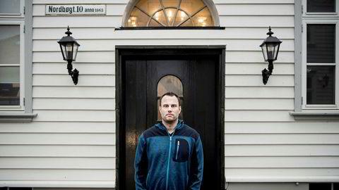 Ole-André Torjussen er eier av Bitcoins Norge as. Her er fotografert utenfor kontoret i Stavanger sentrum.