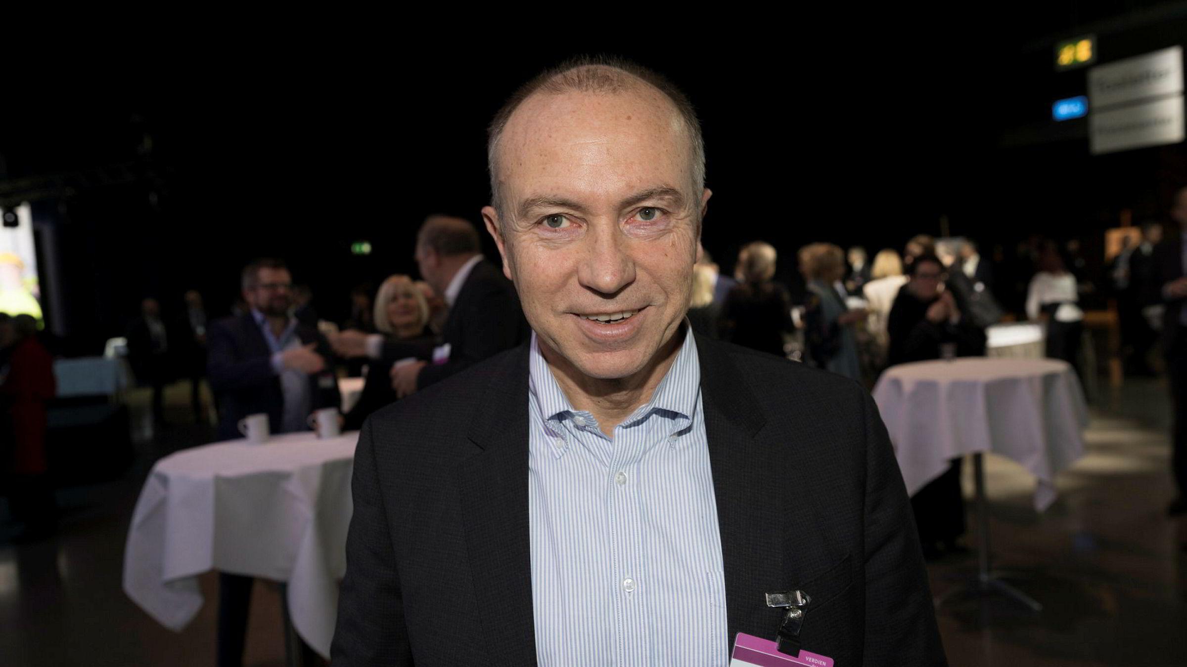Statkraft og konsernsjef Christian Rynning Tønnesen forøker å få store internasjonale selskaper til å bygge datasentre i Norge. Her er Rynning Tønnesen under NHOs årskonferanse.