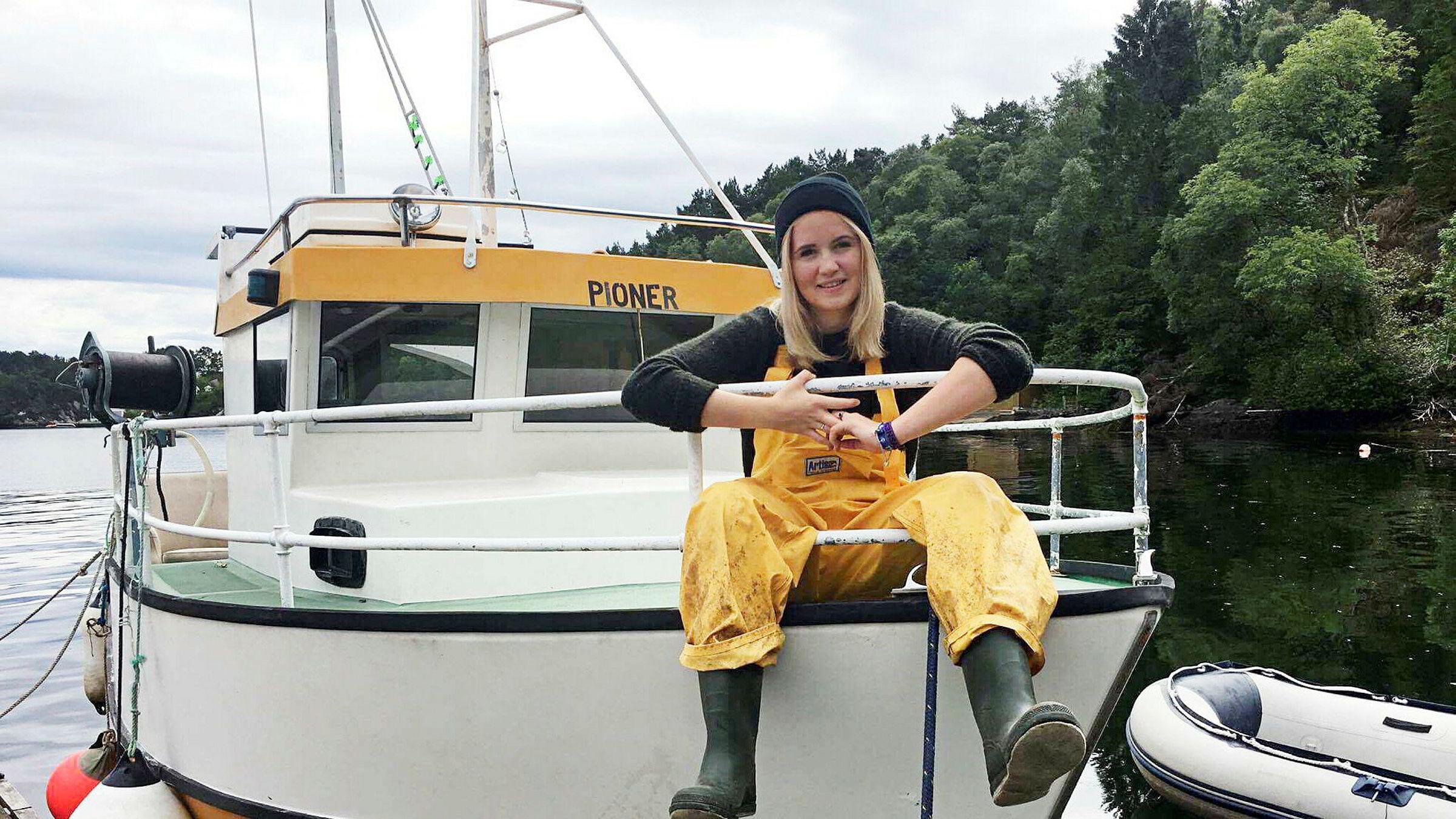 Andrea Nordvik Brunner har ikke angret et sekund på at hun valgte havbruksstudier.