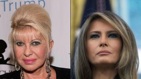 Ivana (til venstre) og Melania Trump er ikke helt enige.