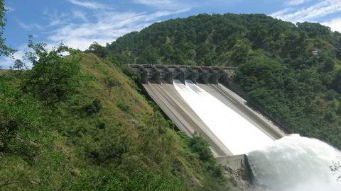 Vannkraftverket Binga i Filippinene.