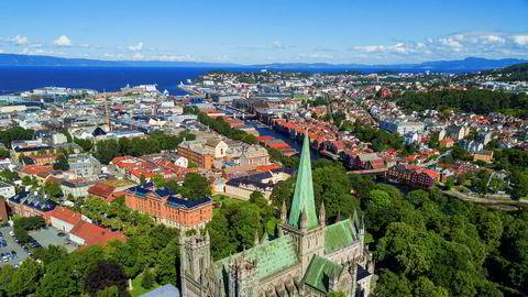 Trondheim er den av de store byene som gikk på den største boligprissmellen i mars.