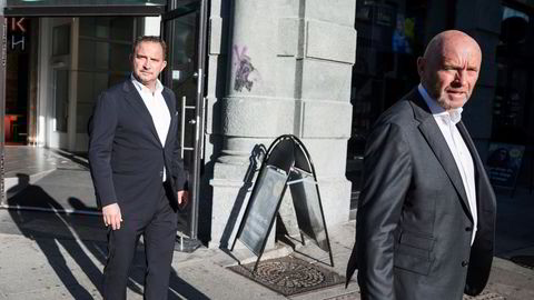 Mads Jacobsen (til venstre) og Rune Firing da de høsten 2018 lanserte etableringen av hotellkonsernet Maribel. Nå jakter bostyrer 30 millioner kroner hos de to samt hos Choice-gründeren Harald Jacobsen, far til Mads.