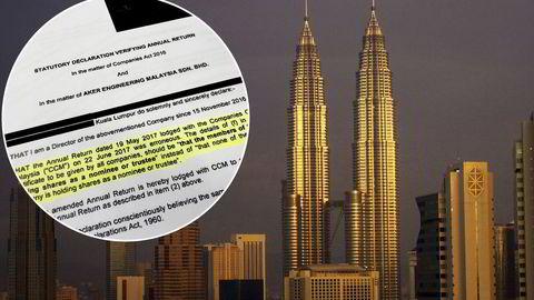 I denne erklæringen innrømmer en Aker Solutions-direktør at selskapet har gitt feilaktige opplysninger til myndighetene i Malaysia.