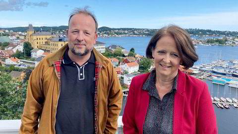 Frithjof Jacobsen og Eva Grinde i Arendal.