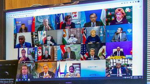 Statsminister Erna Solberg (H) deltok nylig i et digitalt møte i FNs sikkerhetsråd om klimaendringer og sikkerhet. Dette var første gang Solberg talte i Sikkerhetsrådet siden Norge ble medlem av rådet ved årsskiftet.