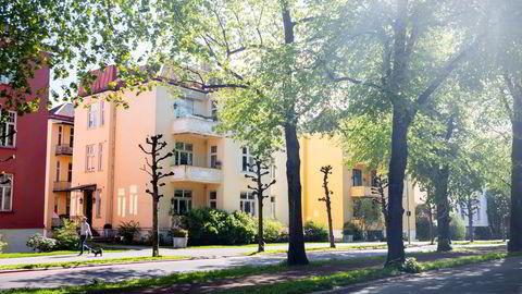 Det er seks leiligheter i denne bygården i Gyldenløves gate 33 på Frogner i Oslo. To av dem eies fra det som regnes som et av verdens mest lukkede skatteparadiser: De britiske jomfruøyer.