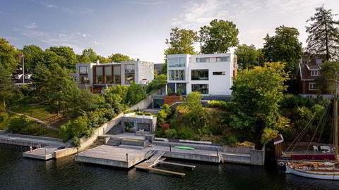 EQT-topp Christian Sinding kan få en gevinst på rundt 30 millioner kroner på denne villaen på Bygdøy. Sinding kjøpte villaen for ti år siden for 40 millioner kroner. Nå har han solgt for tett oppunder 80 millioner kroner, etter det DN erfarer.