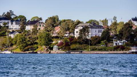 Eiendommer på Bygdøy i Oslo, der mange av landets mest kostbare boliger ligger.