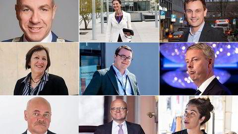 Nemnden har kommet med nye vedtak i sakene til de følgende: Tom Staahle (fra oppe til venstre), Marianne Hagen, Torkild Haukaas, Frøydis Høyem, Espen Teigen, Terje Søviknes, Jardar Jensen, Vidar Helgesen og Laila Bokhari.