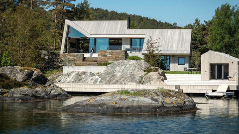 Vri på det tradisjonelle. Arkitekt Tommie Wilhelmsen gikk for en alternativ variant av det klassiske sørlandske skråtaket.