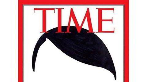 Falskt. Time-forsiden er et internett-meme basert på illustrasjonen til belgiske Luc Descheemaeker/O-Sekoer fra 2016.