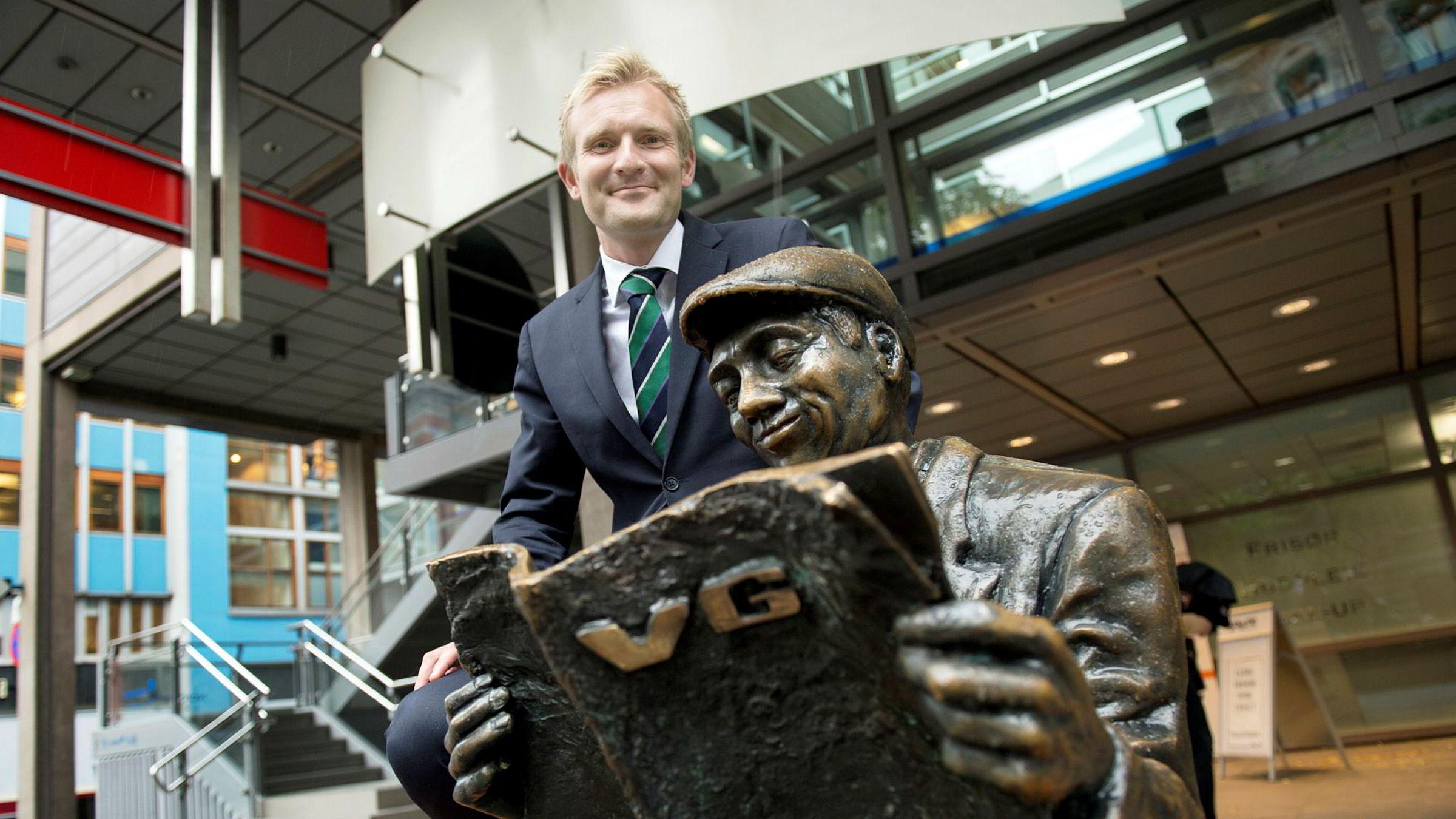 Christian Haneborg, kommersiell direktør i VG, er på jakt etter nye inntekter.