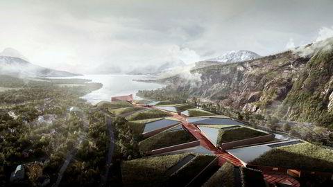 Det nye datalagringssentret i Ballangen er tegnet av arkitektselskapet HDR