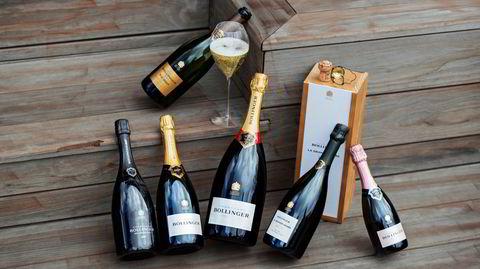 En bukett av nesten alle Bollingers forskjellige champagner.