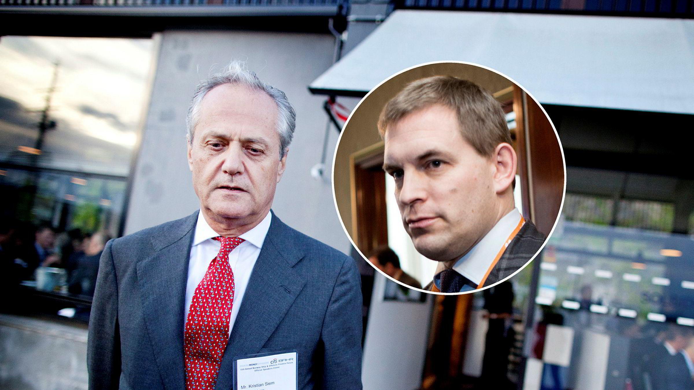 De største eierne i EMGS er investor Kristian Siem gjennom Siem Investments og bergensinvestor Frederik W. Mohn (innfelt) gjennom Perestroika.