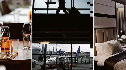 Serveringsbransjen, flyselskaper og overnattingssteder er blant dem som rammes hardest av koronakrisen.