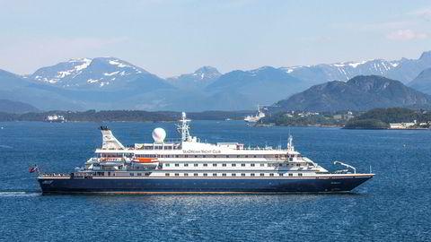 Cruiseskipet SeaDream 1 la natt til onsdag til kai i Bodø.
