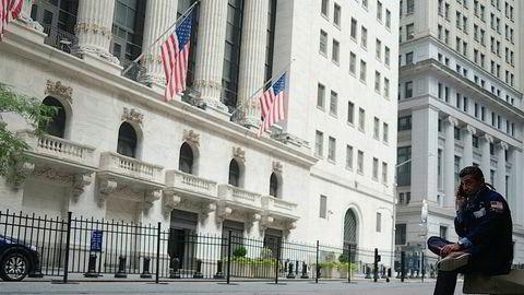 De tre toneangivende indeksene på Wall Street er i rødt i kveld.