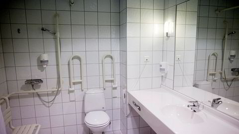 Illustrasjonsbildet viser et bad med baderomsfliser.