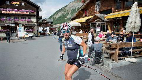 Marit Bjørgen fulgte størstedelen av landslagets opplegg i Italia på den høydesamlingen hun var med på under graviditeten. Rulleskitreningen var en stor del av treningen både i forkant av fødselen og da hun skulle tilbake etterpå.