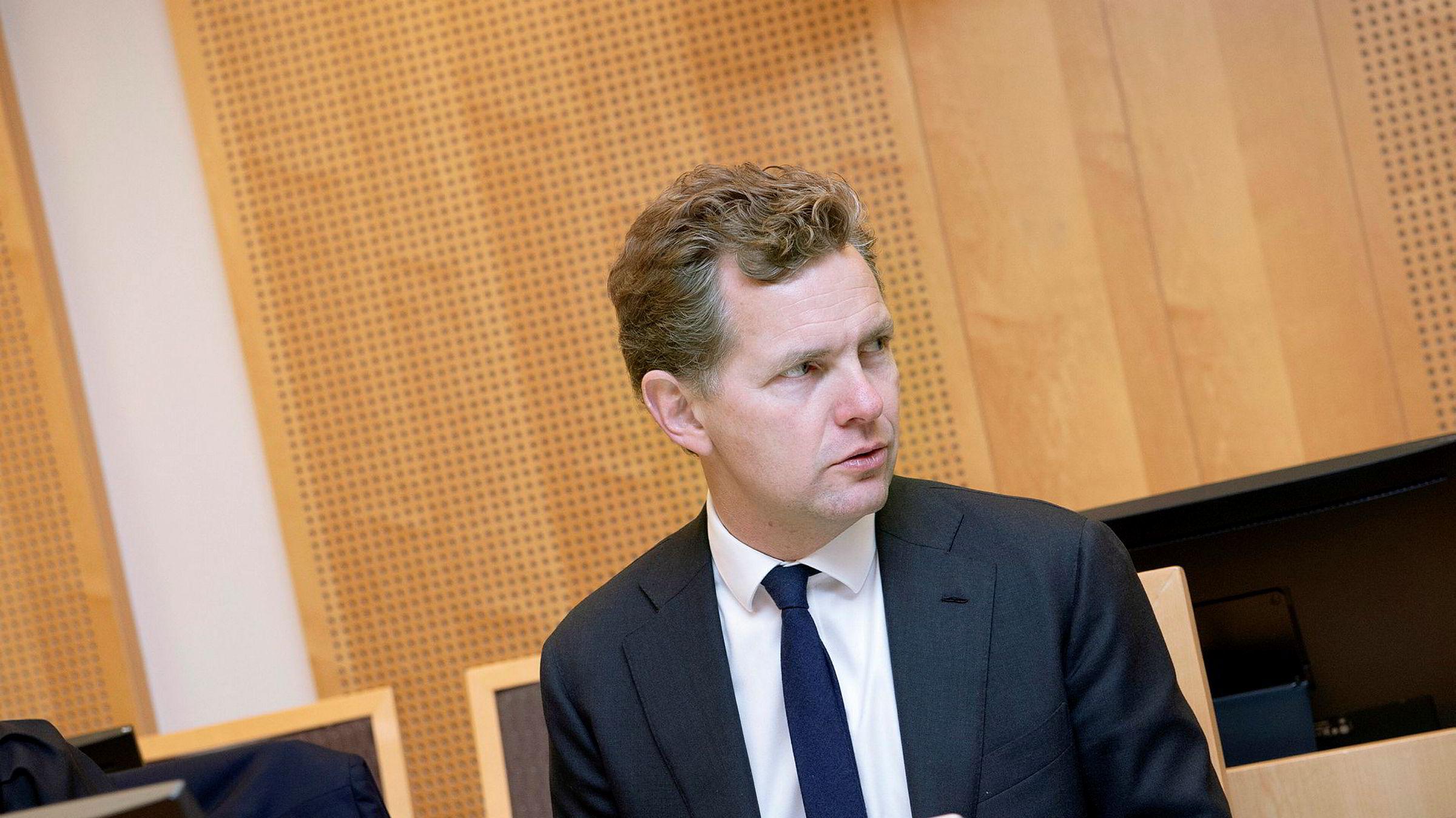 Juridisk direktør Ole Borge fra behandlingen av saken i Oslo tingrett i fjor høst.