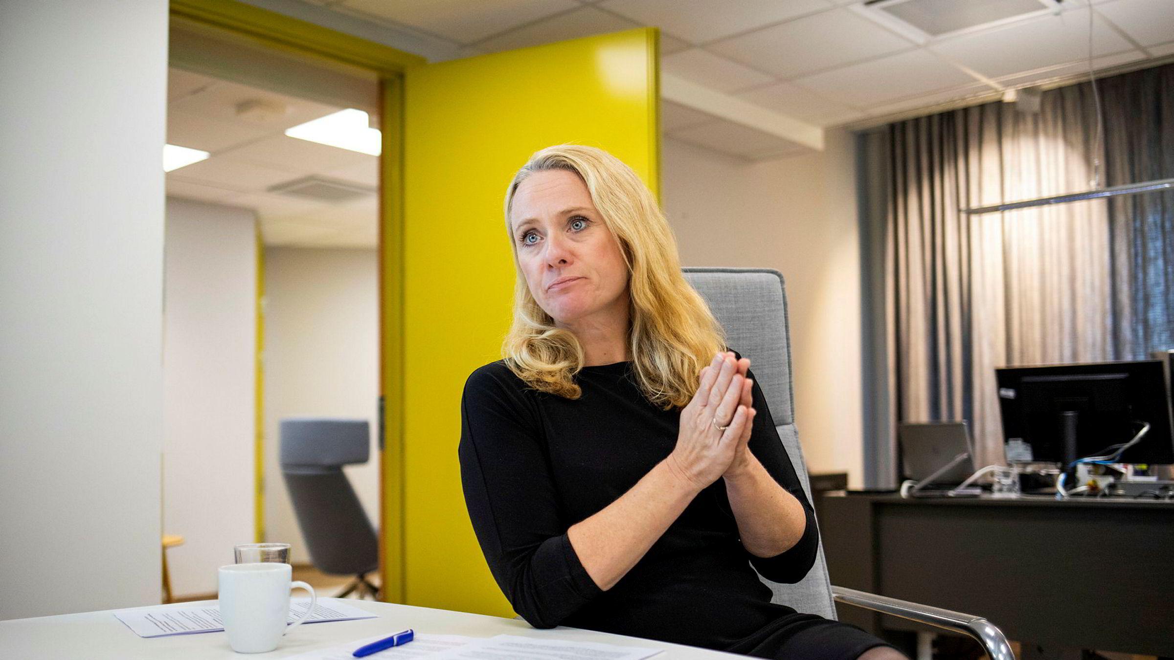Arbeidsminister Anniken Hauglie får litt å svare for om Nav-skandalen i Stortinget i dag.
