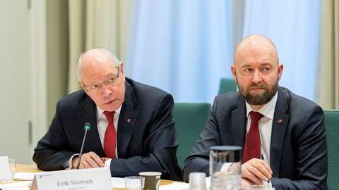 Ap er nå ferdig med behandling av varselet mot Eirik Sivertsen (til høyre).