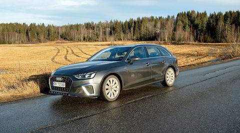 Dieseldrevne Audi A4 trives best på landeveien, med sin enorme rekkevidde og komfortable kjøreegenskaper.