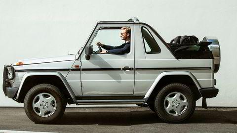 Mitt kjøretøy med Oliver Libæk og hans Mercedes Geländewagen Cabrio.