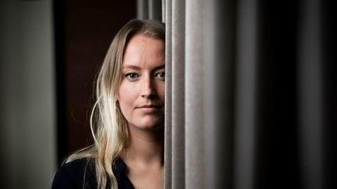 Unge Høyre-leder Sandre Bruflot til portrettet. Foto: Skjalg Bøhmer Vold