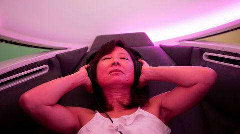 Flittig bruker. Husjurist hos Adobe, Emily Chang, bruker ofte meditasjonskapselen midt i arbeidstiden for å omstarte hjernen.