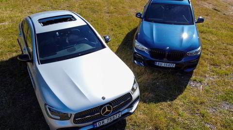 Både BMW X3 30e og Mercedes GLC 300e straffes med ekstra avgifter i forslag til statsbudsjett.