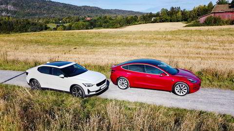 Tesla Model 3 var bestselger i fjor, og har nå fått en konkurrent i Polestar 2.