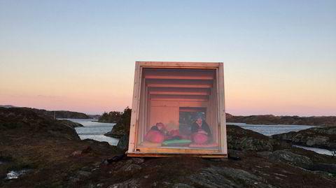 Enkelt. Foreningens første kabin på Duøy sto ferdig i 2017.