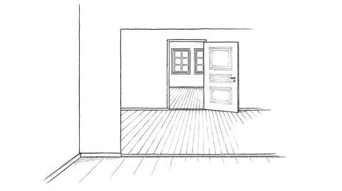 Romfølelse. En bolig der du ser igjennom flere rom samtidig skaper en fin følelse av rom og volum.