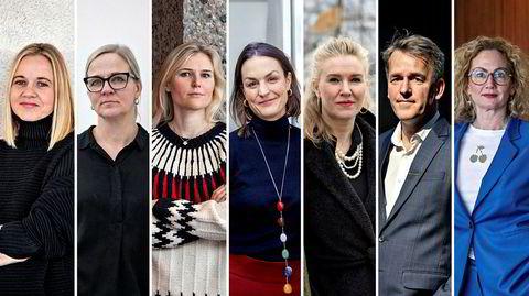 Fra venstre: Karin Hindsbo, Lotte Konow Lund, Cornelia Svedman, Emilie Magnus, Ina Johannesen, Gunnar Krogh-Hansen og Tone Hansen.