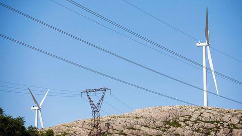 Mye vind og nedbør gir en negativ strømpris.