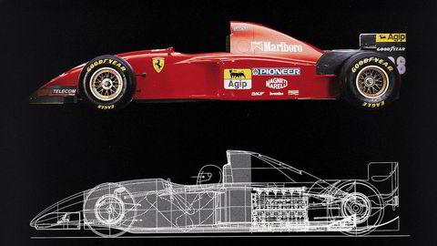 Banebrytende. Tegninger av Formel 1-vidunderet 412 T2 (1995).