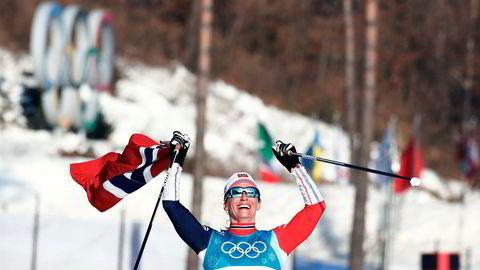 726.000 seere fikk med seg at Marit Bjørgen ble tidenes vinterolympier etter at hun tok OL-gull i klassisk 30 km i Alpensia Cross-Country Skiing Centre under vinter-OL i Pyeongchang søndag.
