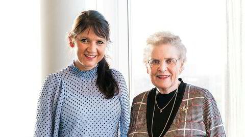 I motsetning til de aller fleste mødre fortsatte Kari Bratten (til høyre) i jobb etter at hun ble mor. Her med datteren Anne-Kari.