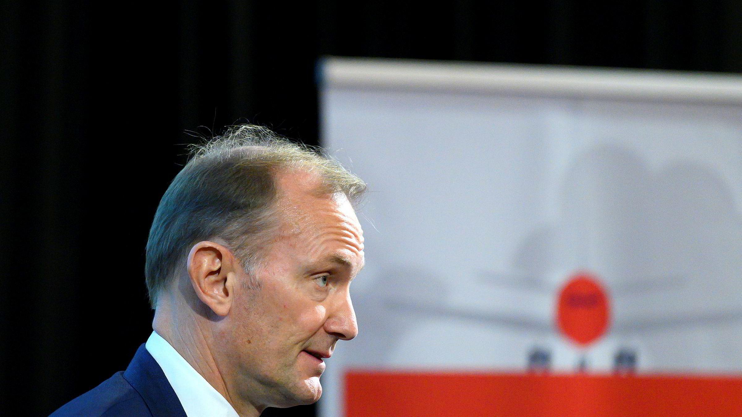 Styreleder Niels Smedegaard i Norwegian.