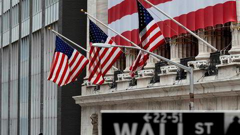 New York-børsen her på Wall Street steg onsdag etter kraftige fall tidligere i uken.