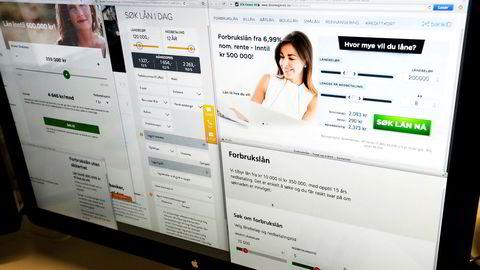 Reklame for forbrukslån er det mye av på nettet og bidrar til veksten. Inkassoveksten har fått lovgiverne til å våkne.