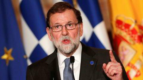 Spanias statsminister Mariano Rajoy setter hardt mot hardt.